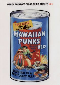 Wacky Packages All-New Series 2 Clear-Cling Stickers # 4 Hawaiian Punks - Topps - 2005