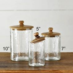 Glass Canister With Lid Antique Farmhouse Antique Farmhouse, Modern Farmhouse Kitchens, Rustic Kitchen, Kitchen Decor, Glass Kitchen, Kitchen Tools, Kitchen Ideas, Farmhouse Kitchen Canisters, Glass Canisters