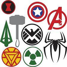 instant download superhero logos superhero symbols superhero rh pinterest com create a superhero logo free create a superhero logo online