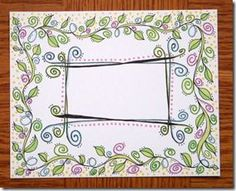 Doodle envelope with address frame and vines. Snail mail envie art is the best!