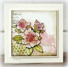 Alota Rubber Stamps: Card 4046 Rose