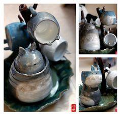 Totoro Tea Set by mdkragon.deviantart.com on @deviantART
