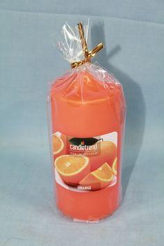 #Kerze Orange, Candle Decorations