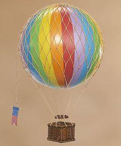 Amazon.com: Travels Light Hot Air Balloon Model, Rainbow Colors: Toys & Games