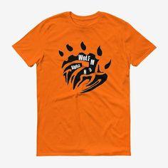 Men Base Logo T Shirt Mandarin Orange