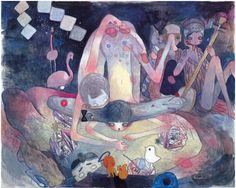 Aya Takano, <i>Yoshino Cherry</i>, 2009 acrylic on canvas x inches x cm) Japanese Art Modern, Japanese Artists, Aya Takano, Superflat, Painter Artist, Inspirational Artwork, Kawaii, Pretty Art, Cute Illustration