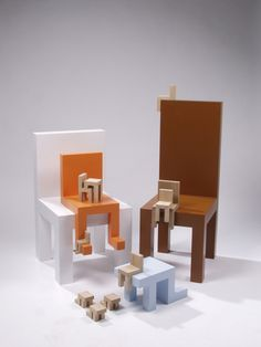 Sitting Chairs by Lucas Maassen via Creature Comfort