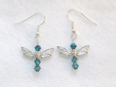 Blue Dragonfly Earrings from Cloudberry Cat