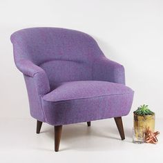 The New Pinta Armchair In Bute Purple Tweed - what's new