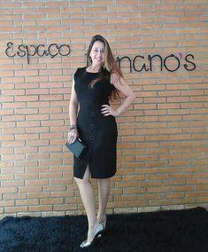 """592e64c8a Espaço Bonano's Rita Bonano on Instagram: """"Vestido incrível em chamois.  (Tecido mega aveludado) Elegância, corte e caimento perfeito, a gente vê  por aqui!"""