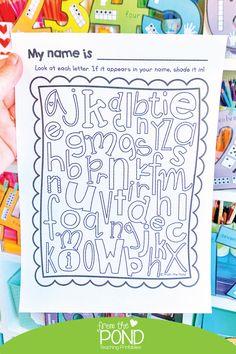 Name activity for back to school - free worksheet Name Activities, Back To School Activities, Preschool Literacy, Kindergarten Activities, Classroom Rules, School Classroom, Kindergarten First Week, Teacher Tools, Beginning Of School