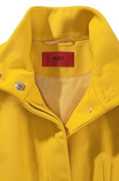 HUGO - Coat with geometric dividing seams 'Metina' Formal Coat, City Chic, Winter Wear, Hugo Boss, Wool Blend, Rain Jacket, Cashmere, Windbreaker, Raincoat