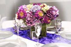 Custom floral arrangements by Plush Pink Events. Rental floral arrangement services. Event design by Plush Pink Events.