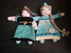 Lappen pop Anna en Elza  Na patroon lappenpop prinses  Van Sascha Blasé van wagtendonk