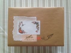 Brown parcel paper style using Rifle Paper Co. stationery.   The Open Home.