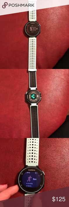 Garmin Forerunner 235 Love this watch! Great condition, heart rate monitor, step counter, Bluetooth to phone, and you're able to receive notifications like texts and phone calls!! Garmin Accessories Watches
