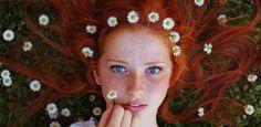 Ritratti fotografici di ragazze con capelli rossi di Maja Topčagić