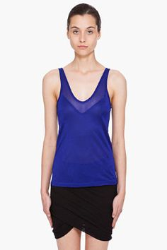 T BY ALEXANDER WANG //  SKINNY STRAPS TANK TOP