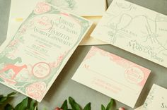 Oh So Beautiful Paper: Abigail + Tim's Art Nouveau Wedding Invitations