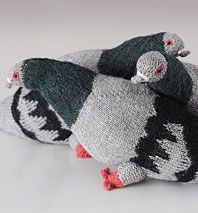 Cuddly Stuffed Pigeons These hand-knit birds make offbeat souvenirs for visitors.