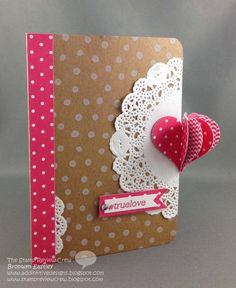 cut doily in two parts and use on edges of card