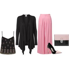 """""""Pink and Black"""" by damali64 on Polyvore"""
