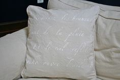 Where the Grass is Greener...: Stenciled Pillow Tutorial