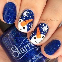 Are you looking for some cute nails desgin for this christmas but you are not sure what type of Christmas nail art to put on your nails, or how you can paint them on? These easy Christmas nail art designs will make you stand out this season. Holiday Nail Art, Christmas Nail Art Designs, Winter Nail Art, Winter Nails, Holiday Makeup, Christmas Makeup, Winter Art, Nail Designs For Christmas, Easy Christmas Nail Art