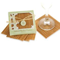 Kate Aspen Natural Bamboo Coaster Wedding Favors (Set Of - Natural bamboo coasters are a thoughtful favor for almost any occasion. Bamboo is a symbol of luck and success, and coasters are always useful. Wedding Favour Kits, Winter Wedding Favors, Wedding Ideas, Kate Aspen, Bamboo Design, Agate Coasters, Sweater Nails, Coaster Furniture, Coaster Set