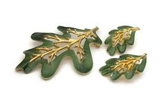 Sarah Coventry Enchanted Forest Leaf Brooch Clip by FeltInMyHeart