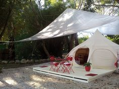 Lotus belle tents, for an extra portable room,