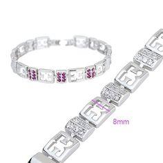 18K116-Brass with rhodium plated bracelet  http://www.craftandjewel.com/servlet/the-610/18K116-dsh-Brass-with-rhodium-plated/Detail
