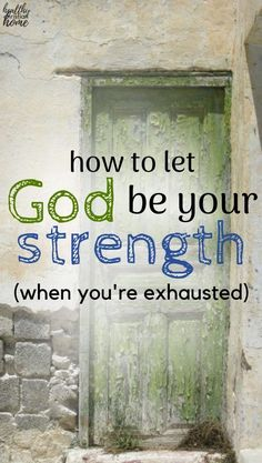 """""""The joy of the Lord is my strength"""" is a phrase we often hear, but what does it mean, really? Let's explore 5 ways to let God be your strength when you're exhausted. Christian Faith, Christian Living, Christian Women, Lord Is My Strength, Joy Of The Lord, Christian Encouragement, Christian Devotions, Bible Prayers, Let God"""