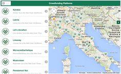Mappa piattaforme di crowdfunding in Italia