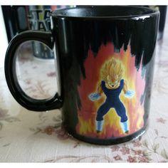 drop shipping-Super Dragon Ball Z Vegata Color Changing Magic Mug Heat-sensitive Reactive ceramic coffee tea milk cup