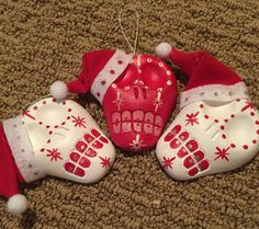 Sugar skull Christmas Ornaments with Santa by LosMuertosButterfly