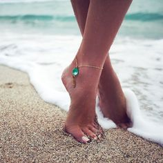 Anklet Aqua, $23, now featured on Fab. (never thought i would like an angle bracelet!)
