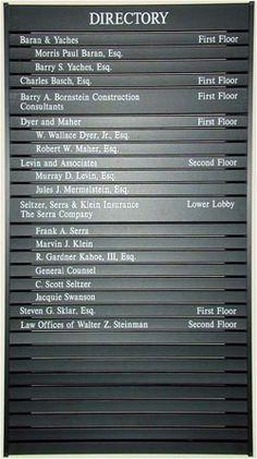 Illuminated and Non Illuminated Building Sign Directory   InteriorTech Sign Co