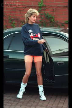 November 20, 1995: Princess Diana at the Chelsea Harbour Health Club in London.