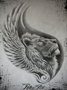 plantilla+leon+en+sombras+grises.jpg (364×491)