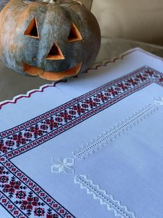 Antique hand embroidered tablecloth with traditional Ukrainian | Etsy Cross Stitch Embroidery, Machine Embroidery, How To Make Ornaments, Cross Stitch Designs, Natural Linen, Delicate, Traditional, Antiques, Fabric