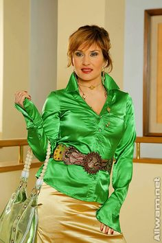 allwam satin blouses - Google Search