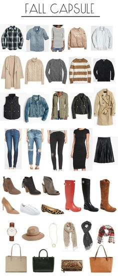 building a fall capsule wardrobe Since tomorrow marks the first day of October, I thought it would be fun to do a fall capsule post today. So what is a capsule? The readers digest version Look Fashion, Trendy Fashion, Fashion Outfits, Fashion Trends, Fashion Clothes, Travel Outfits, Trendy Style, Curvy Style, Travel Packing