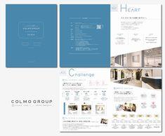 大阪|パンフレットデザイン| 会社案内パンフ |  デザイン会社|冊子制作 |会社概要| colmodesign+i osaka/ company brochure / graphicdesign/design studio Graphic Prints, Graphic Design, Pamphlet Design, Catalog Design, Book Layout, Company Profile, Editorial Design, Booklet, Feel Good