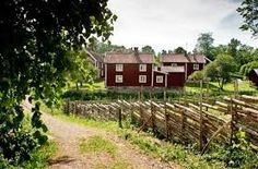 Visit Smaland, Sweden (where to stay, what to see) Work In Sweden, Wood Fence Post, Travel Around The World, Around The Worlds, Metal Fence Panels, Deer Fence, Visit Sweden, Wrought Iron Fences, Red Cottage