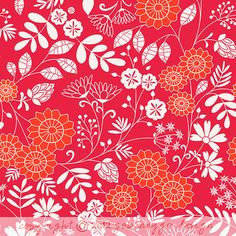 print & pattern: DESIGNER - go benny go. Pink and orange botanical.