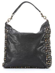 Lavata Medioevo Hobo Leather black 35 cm