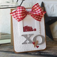 Sizzix Inspiration | Shaker Hearts Card by Hilary Kanwischer