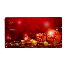 Christmas gift tags personalized Label