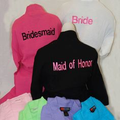 Monogrammed Bath Robes for Bridal Party Gift